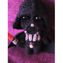 Darth Vader Star Wars Tejido A Mano Crochet Amigurumi
