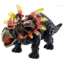 Wolvol Dinosaurio Walking Triceratops Toy Figura Con Muchas