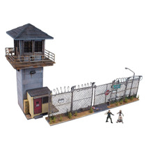 The Walking Dead Prison Tower & Gate Building Set Mcfarlane