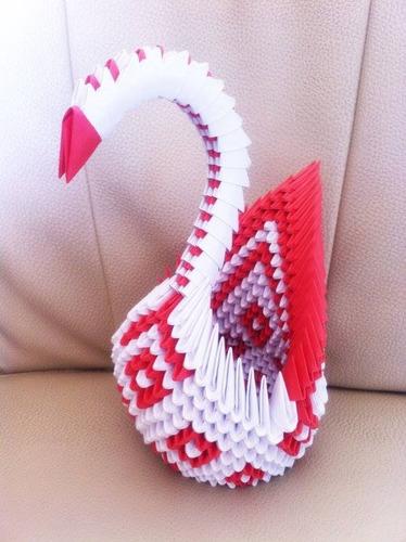 Origami Decoracion Pared ~ Cisne De Origami 3d Para Fiestas O Decoracion En Casa  $ 300 00 en