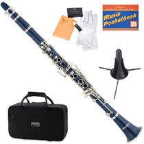 Clarinete Mendini Mct-e Azul + Accesorios Gratis Vv4