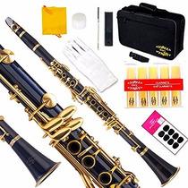 Clarinete Glory B Profesional Azul Instrumento Musical
