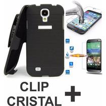 Kit Funda Holster Clip Y Cristal Templado Huawei G Play Min