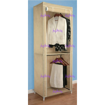 Closet Armable Doble Colgador Puerta Enrollable Crrd