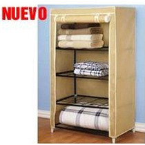 Closet Armable Portatil Repisas Metal Puerta Enrollable Crrd