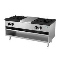 Asber Aesp-48-4 Fogon Piso Gas 2 Secciones Cocina Comida