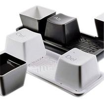 Tazas Tasas Cafe Teclas Computadora Charola Laptop -usb Hdmi