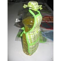 Mandil Y Gorro Para Botella De Aceite Con Porta Cerillos