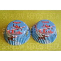 *capacillos Azul Aviones Disney Panquecito Cupcake Fondant*