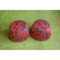 *capacillos Naranja Halloween Varios Negro Cupcake Fondant*