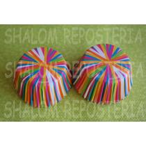 *capacillos Blancos Ligas De Colores Wilton Cupcake Fondant*