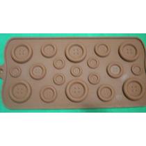 Molde De Silicón Tipo Chocolatero Con Figura De Botón