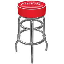Banco Taburete Barra Cocina Diseño Coca Cola Con Reposapies
