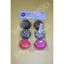 *150 Mini Capacillos Animal Print Mini Cupcake Fondant*