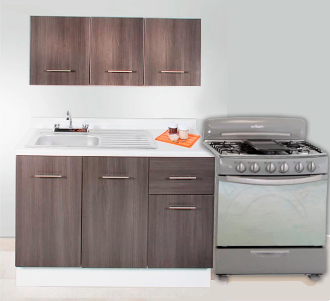Gabinetes de cocina peque a sencillos ideas for Gabinetes de cocina en mdf