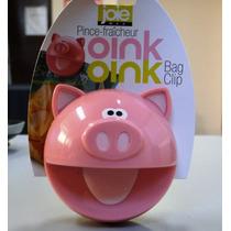 Clips Para Bolsas De Cocina Línea Oink Oink Únicos En Ml