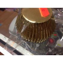 100 Capacillos Metalicos Color Dorado