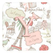 Conjunto De 4 Letra Y Amor En París Pink Espuma Cerveza Cj2