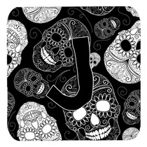 Conjunto De 4 Letra J Día De Los Cráneos Muertos Negro Esp