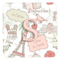 Conjunto De 4 Letra S Amor En París Pink Espuma Cerveza Cj2