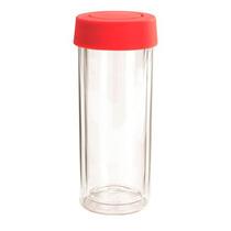 Botella Térmica Go Clear Doble Pared 18 Oz Cubierta Silicón