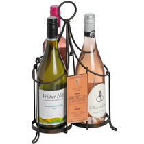 Porta Botella - Rústico Tres Vino Carrier Barware Comedor