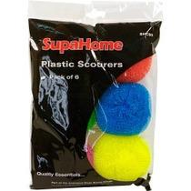 Estropajo - Supahome Tejido Plástico Estropajos X6 Cocina