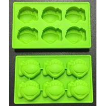 Molde Silicon Para Hielo Chocolate Tortugas Ninja