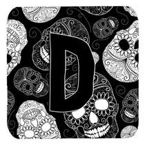 Conjunto De 4 De La Letra D Día De Los Cráneos Muertos Neg