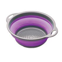 Colador - Plegable 24cm Púrpura Colador Ahorro De Espacio