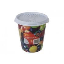 Plastic Pot - 2l 7 Ronda W Tapa En Diseño Fruta