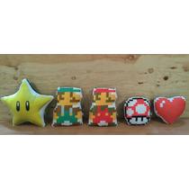 Cojín Decorativo Mario Bros Personajes Pixel Nintendo Regalo
