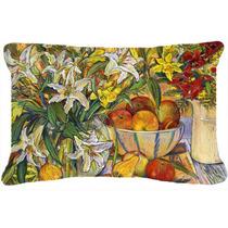 Frutas, Flores Y Verduras Tela Almohada Decorativa Dnd021pw1