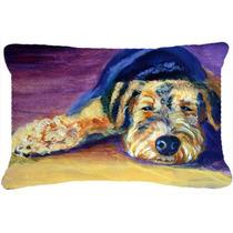 Snoozer Airedale Terrier Tela Almohada Decorativa 7344pw1216