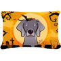 Tela De Halloween De Weimaraner Almohada Decorativa Bb1789pw
