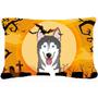 Halloween Del Malamute De Alaska Tela Almohada Decorativa Bb