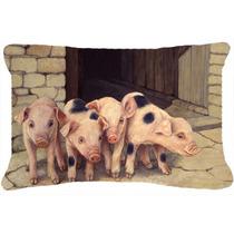 Cerdos Lechones De Daphne Baxter Tela Almohada Decorativa Bd
