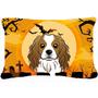 De Halloween Cavalier Spaniel Tela Almohada Decorativa Bb178