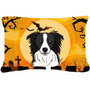 Border Collie De Halloween Tela Almohada Decorativa Bb1799pw
