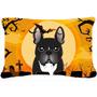 Bulldog Francés De Halloween Tela Almohada Decorativa Bb178