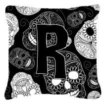 La Letra R Del Día De Los Cráneos Muertos Negro De Tela De