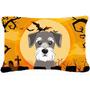Tela De Halloween Del Schnauzer Almohada Decorativa Bb1764pw
