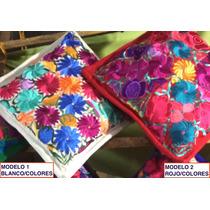 Cojines Decorativos Bordados Artesanales Fundas Floreadas