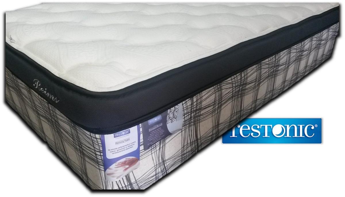 Colch n para cama queen size reims env o gratis restonic for Cama king size con colchon