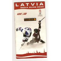 Guia Medios Letonia Hockey Sobre Hielo Autografiada
