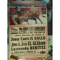 Cartel Taurino- Nuevo Laredo, 23-4-95