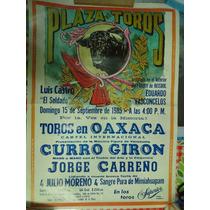 Cartel Taurino- Oaxaca - Curro Girón - 28-10-1989
