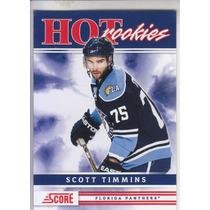 2011-2012 Score Hot Rookies Scott Timmins C Florida Panthers