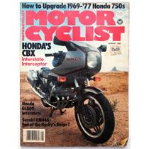 Motor Cycle Agosto 1981 Revista De Motociclismo Honda
