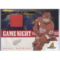 2011 - 2012 Pinnacle Game Night Jersey Pavel Datsyuk Rwings